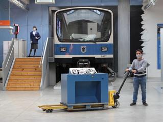U-Bahn-Fahrsimulator auf neuer Position im MVG-Museum