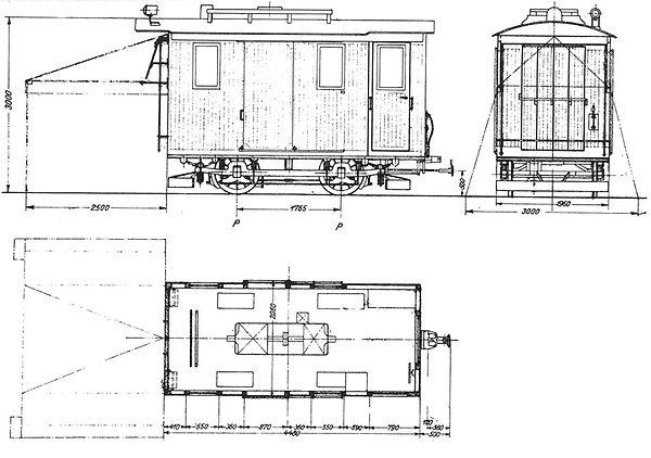 Werkstattwagen Umformerwagen 88 / 904 Bauskizze tram trambahn münchen FMTM