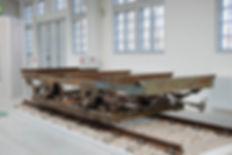 Transportwagen/Niederbord  Typ: q 9.26 Betriebsnummer 2501 im MVG-Museum München tram