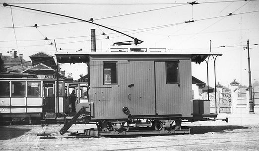 Werkstattwagen u 1.31 Nummer 88 im Betriebshof Schäftlarnstrasse tram trambahn münchen FMTM strassenbahn