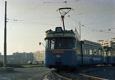 Trambahn__Linie_29_München_1971_Perlach