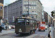 Schienschleif- und Reinigungswagen 2903 in olivgrünen Lackierung die Kreuzung Dachauer-/Marsstraße29. Mai 1971 tram münchen