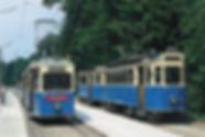 Bei der Wiederinbetriebnahme der Linie 17 am 1. Juni 1996 fahren historische Fahrzeuge münchen tram