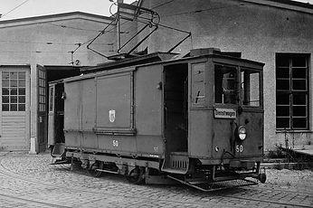 Werkstattwagen  Typ: W 4.28 Letzte Betriebsnummer: 49-58 Stückzahl: 10 Hersteller: Union E.G. Baujahr: 1928/29 Umbau ex Beiwagen z 1.22 (1895) ausgemustert 1943 bis 1959 tram münchen