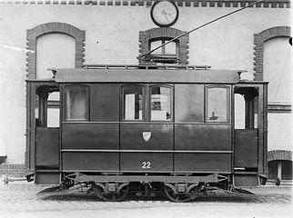 Werkstattwagen   Typ: W 1.21 Betriebsnummer: 22 München Tram
