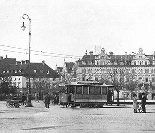 Z 1.22 im Jahr 1898 auf demSendlinger-Tor-Platz münchen tram z Typ elektrische