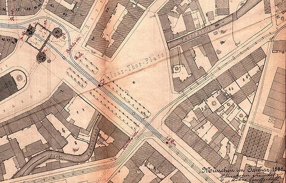 1888 Centralbahnhof-Stachus-Marienplatz-