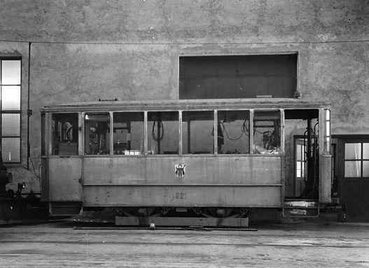 Werkstattwagen  Typ: u 1.45 Betriebsnummer: 921 münchen tram