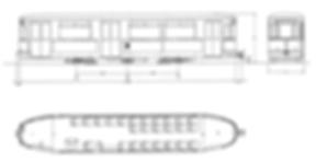 Übersichtszeichnung der m 2-Beiwagen Münchn tram