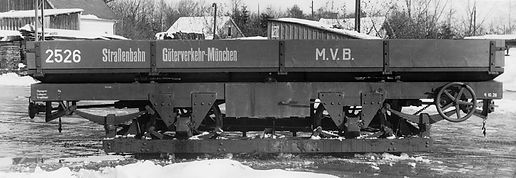Transportwagen / Niederbord-Kipper  Typ: q 10.26 Nr. 2526 München tram
