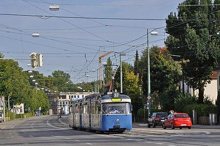 P-Tw 2021 an der Maria-Ward-Straße 2009 tram münchen