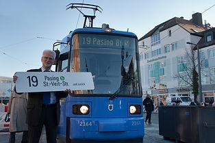 MVG-Chef Herbert König eröffnet am 13.12.2013 die neue Strecke zum Pasinger Bahnhof müchen tram