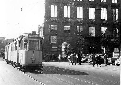 E-Tw 553 in der Neuhauser Straße einwärts münchen tram trambahn