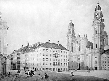 1828_Odeonsplatz_Bauerngirgl_Gaststätte