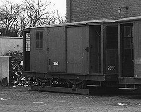 Salzwagen  Typ: s 3.50 Betriebsnummer 2850 tram münchen