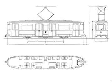 TYP M 1.62 bauskizze skitte zeichnung münchen tram