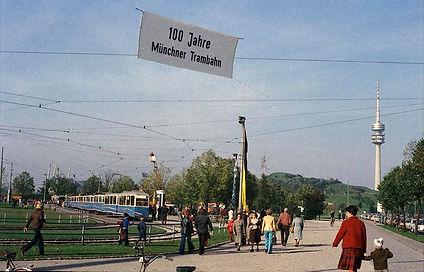 100-Jahrfeier 1976 in der Olympiaschleife münchen tram fmtm