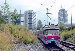 Die Blumen-Tram zur Bundesgartenschau 2005. münchen tram