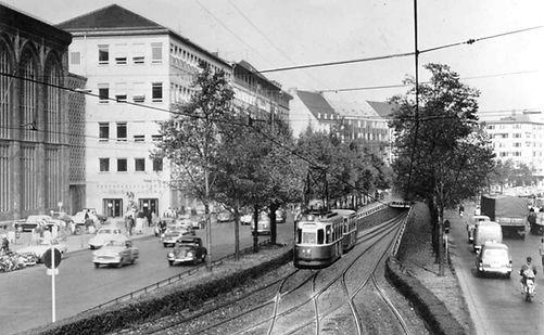 Visualisierung der geplanten Tiefbahn in der Sonnenstraße, 1961. Archiv MVG tram münchen
