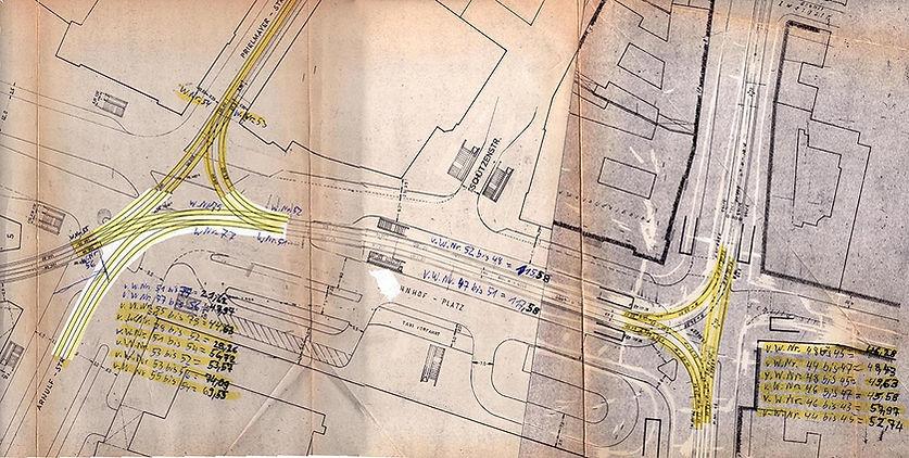 Streckenplan 28  Hauptbahnhof 10-05-1985