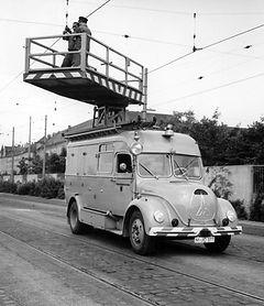 Unterwegs mit dem Oberleitungsturmwagen Typ KHD münchen tram