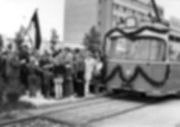 Eröffnungszug 2017 an der Hst. Neuperlach Nord vor Eröffnung 28.09.1973 tram münchen