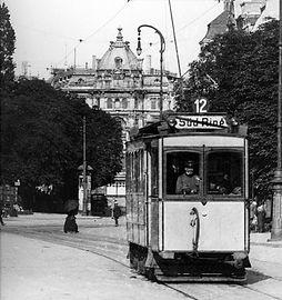A2-Tw 230 am Stachus 1916 tram münchen