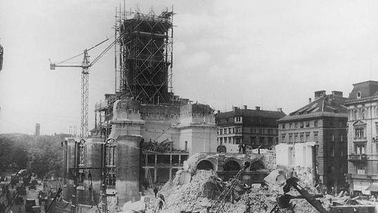 1938 Abriß Mathäuskirche sonnenstraße stachus münchen FMTM