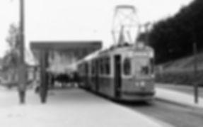 Tw 799 am Scheidplatz als E13 1972 münchen tram