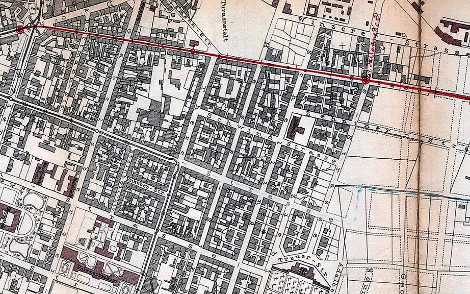 1898-03 Trambahnvarianten nach Milbertsh