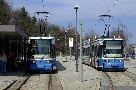 Linie 32 am Scheidplatz tram münchen