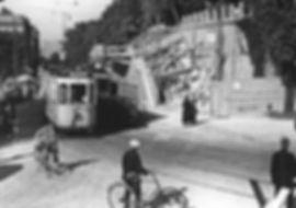 D-Tw 473 am Giesinger Berg während der Regulierung 1934 münchen tram