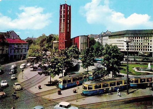 1955 sendlingertorplatz neue Mathäuskirche