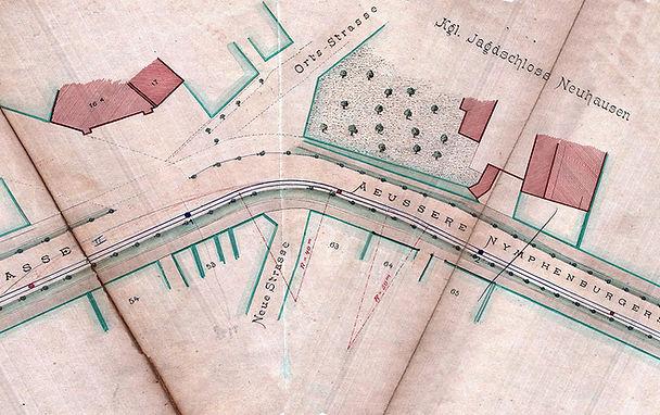 1883-01-20_Plan_Pferdebahn_Verlängerung