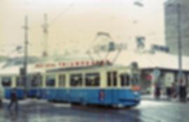 Triebwagen 769 + Beiwagen 1632 auf der Linie 7 am Hauptbahnhof münchen tram