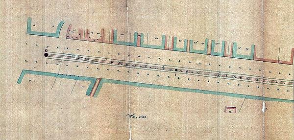 1876_Pferdebahn_Endstelle_Nymphenburgers
