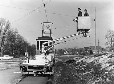 Turmwagen mit Ruthmannsteiger  Typ: t 3.26 Betriebsnummer: 2900 münchen tram