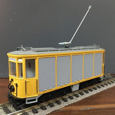 Münchner Post-Trambahn Spur H0 | -motorisiert-  gelb