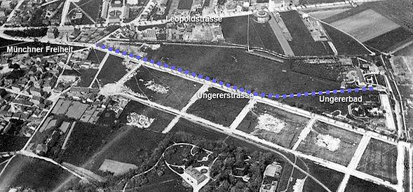 Ungererbahn Streckenführung 1895 münchen schwaing tram elektrische