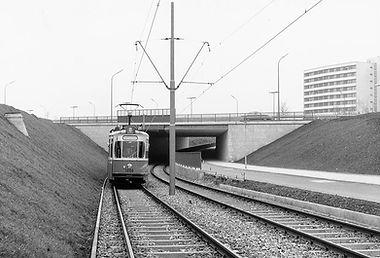 M5-Tw 1000 am Uriweg einwärts 31.10.1964 münchen tram