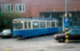 tram münchen Bahnhofswagen  Typ: M 5.65Betriebsnmmer 2987