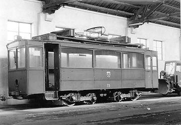 Werkstattwagen  Typ: W 11.1 Betriebsnummer: 73 München Tram