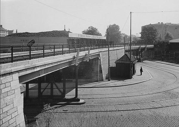 1930 Lagerhausstraße Thalkirchnerstraße Brücken  © Staatsbibliothek München.jpg