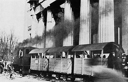 Hilfsbahnlinie II Januar 1947 Propyläen münchen tram