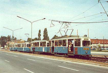 J-Tw 717 am Michaelibad (Eröffnung nach Perlach) 12.9.1970 münchen tram