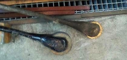 Seltene Teile im Bestand: das berühmte Stromstangerl der Tram münchen