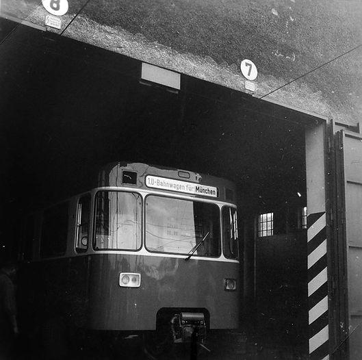 U-Bahn Anlieferung 1967 München Soxhletstraße