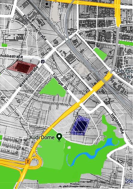 Plan 1926 Variationen Bauplatz bahnhof 3