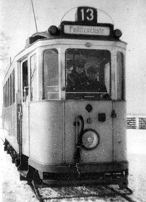 E-Tw 611 in Freimann 1934 münchen tram
