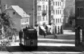C-Triebwagen + c-Beiwagen fährt den Sendlinger Berg hinauf stadtauswärts 1926 tram münchen